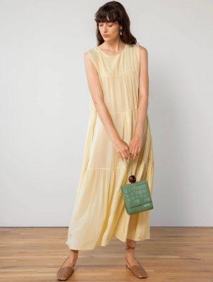 Pixie Market Beige Maxi Dress