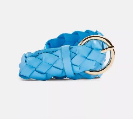 Topshop Blue Authentic Weave Belt