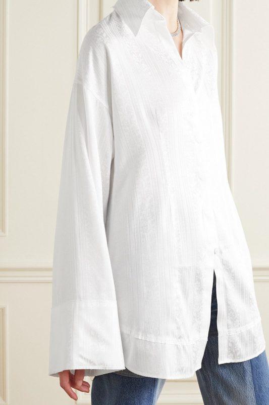 Acne Studios Oversized Satin Jacquard Shirt