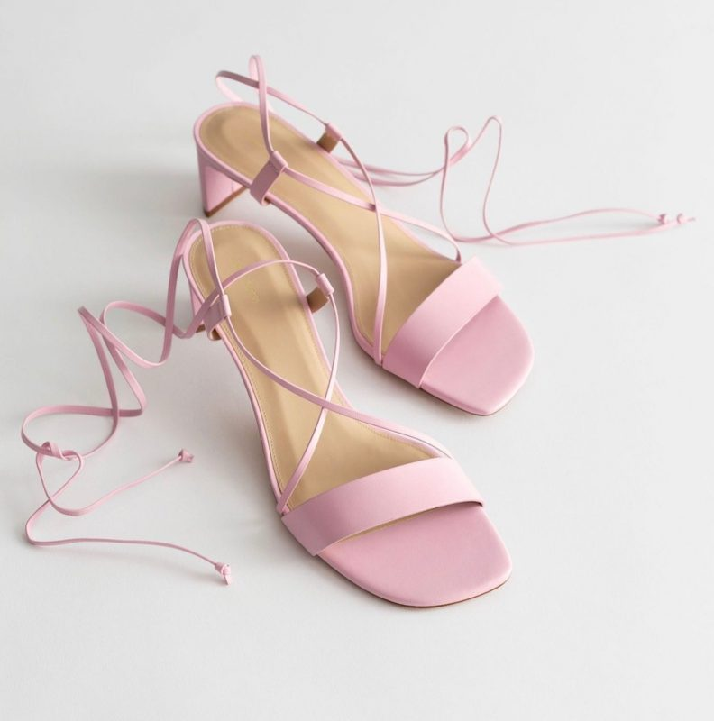 Other Stories Criss Cross Lace Up Leather Sandals