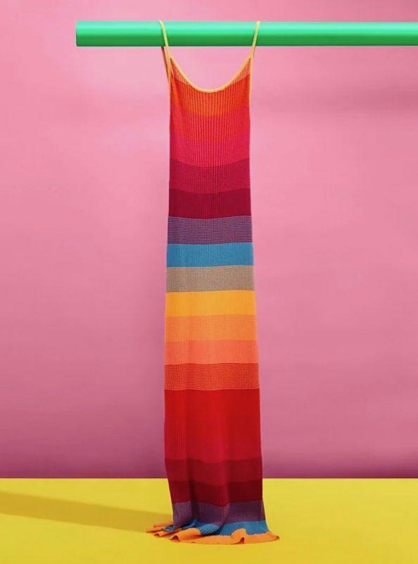 Banana Republic Pride 2020 Rainbow Knit Dress